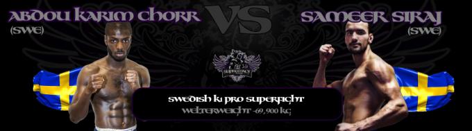 fightcard - Chorr vs Siraj