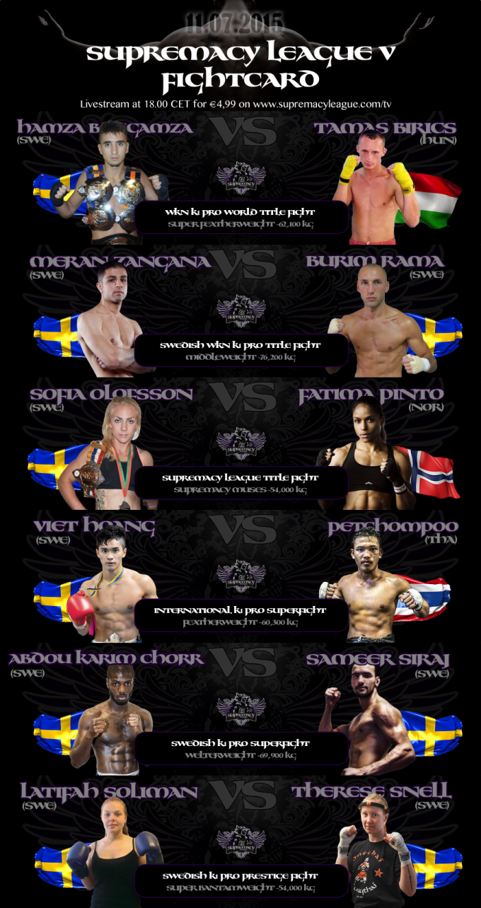 Supremacy League V - full fightcard